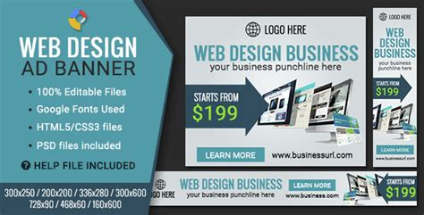 Webe 6 In 1 gwd web design html5 banners 07 sizes nulled