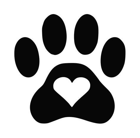 Puppy Paw Silhouette Www Imgkid Com The Image Kid Has It Paw Print Silhouette