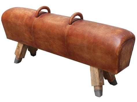 Stools In Horses by Antique Leather Vintage Bench