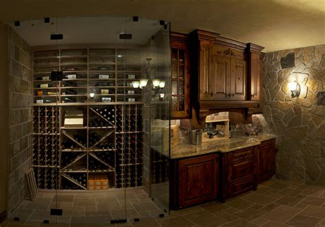 mike debrah s basement traditional wine cellar