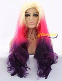 colored wigs bright colored wigs for ombre 3 tones