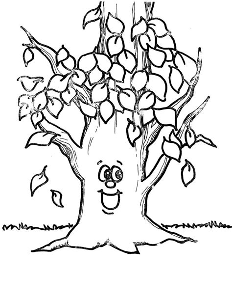 Tree Leaf Coloring Pages | free printable tree coloring pages for kids