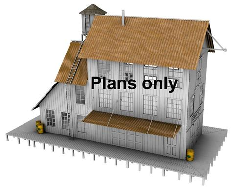 free building plans ho scale building plans free printable n scale buildings