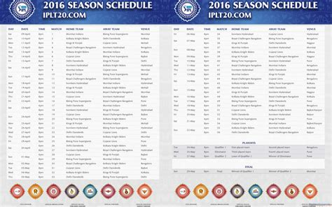ipl match table 2017 ipl 2017 schedule in pdf download updated vivo indian