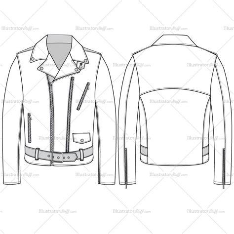 leather pattern design software men s leather jacket fashion flat template illustrator stuff