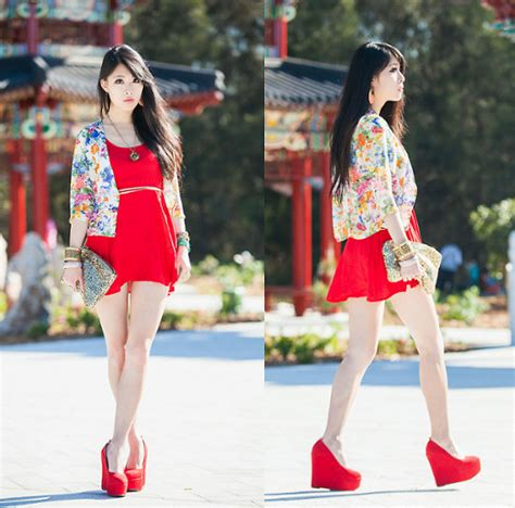 china doll look 3 z stephieshop floral cardigan china doll lookbook