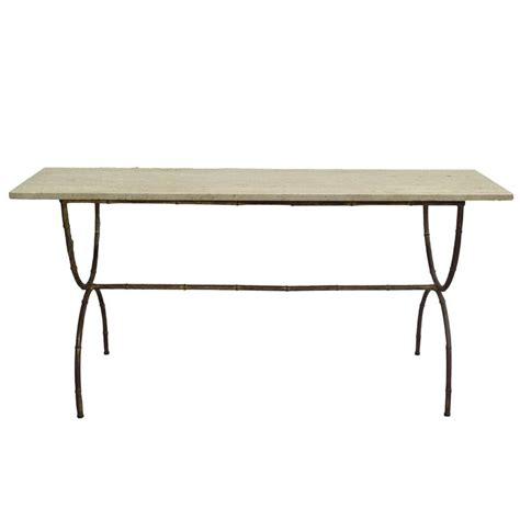 faux sofa table midcentury faux bamboo sofa table or console by
