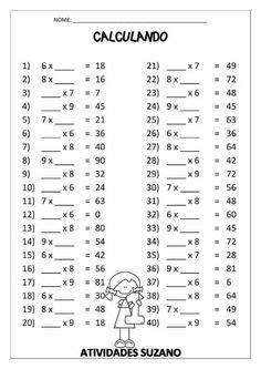 Table de multiplication à imprimer de 1 a 12   transport
