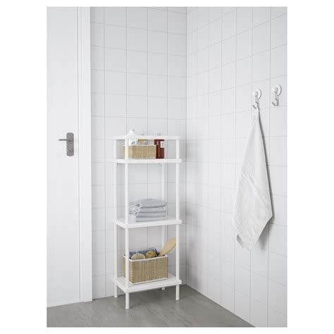 ikea towel storage dynan shelf unit with towel rail white 40x27x108 cm ikea