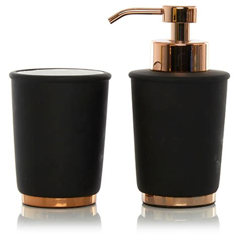 black bathroom accessories george home black copper bathroom accessories