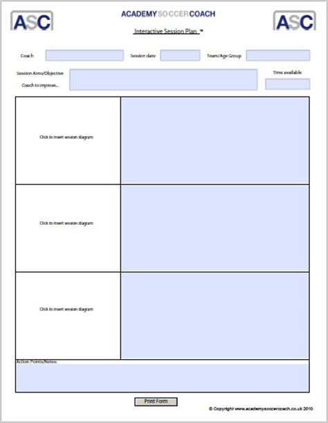coaching session template search results for coaching template soccer calendar 2015