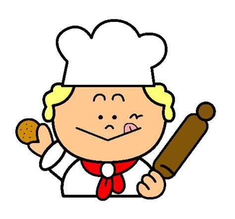 imagenes de otoño en dibujo dibujo de cocinero 2 pintado por panadero en dibujos net