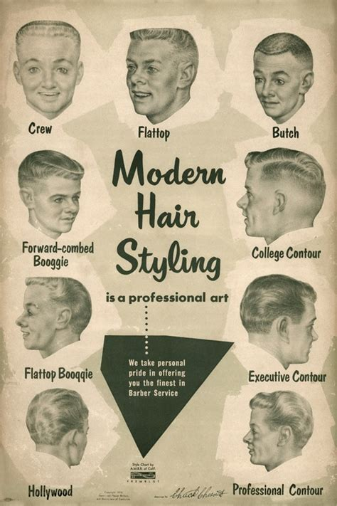 vintage hairstyles and their names men s hair styles 1950s matthew s island of misfit toys