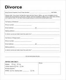 Divorce Letter Format Doc Sle Divorce Form 16 Free Documents In Pdf