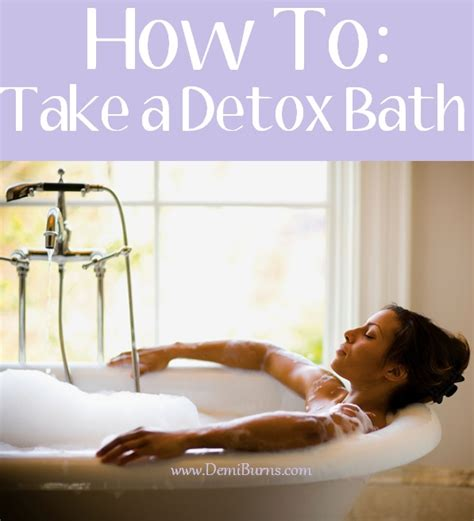 How Does It Take To Detox From by How To Take A Detox Bath