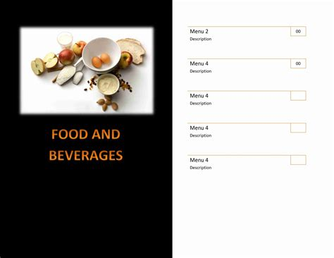 restaurants menu templates free restaurant menu