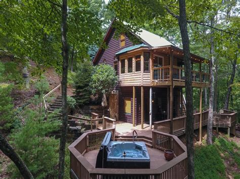 Cabin In Woods For Rent by Ellijay Usa 3 Bedroom Mountain Cabin