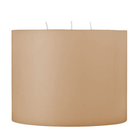 3 Wick Candles 8x6 Unfragranced 3 Wick Pillar Candle Unscented Shell