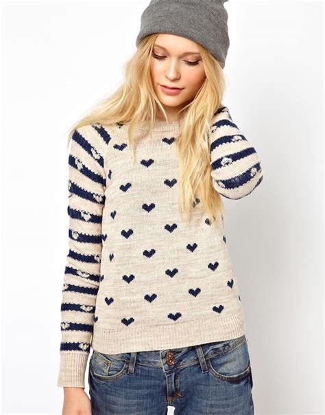 Chelsea 06 Raglan lyst river island chelsea print sweater in blue