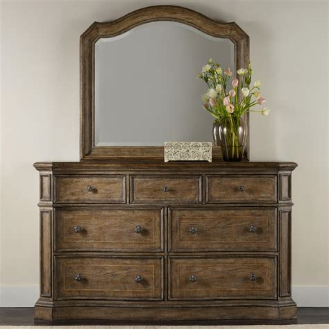 Vanity Solana by Furniture Solana 7 Drawer Dresser And Mirror Set