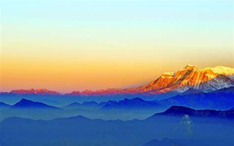 wallpaper mountains horizon  nature