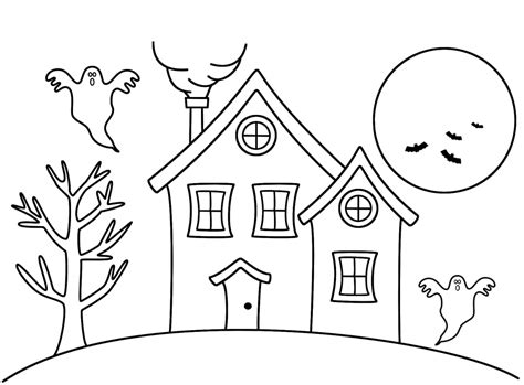 step 7 how to draw a haunted house halloween coloring pages haunted house coloring home