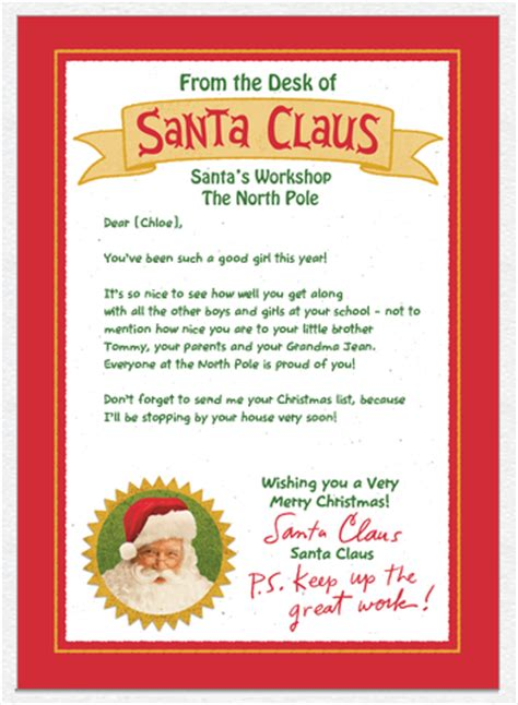 Hurry Custom Personalized Card From Santa Mailed To Your Child For 0 49 Today 12 3 Happy Free Santa Reply Letter Template