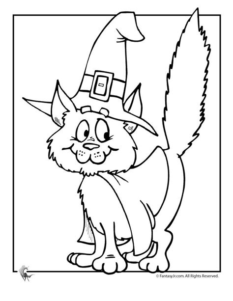 preschool coloring pages cats cute halloween coloring pages halloween witch cat coloring