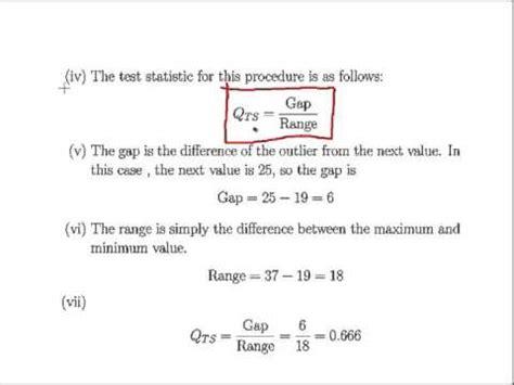 q test dixon q test for outliers