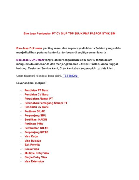 Jasa Membuat Cv Di Bekasi | 0812 818 29344 biro jasa pembuatan pt cv cepat di bekasi