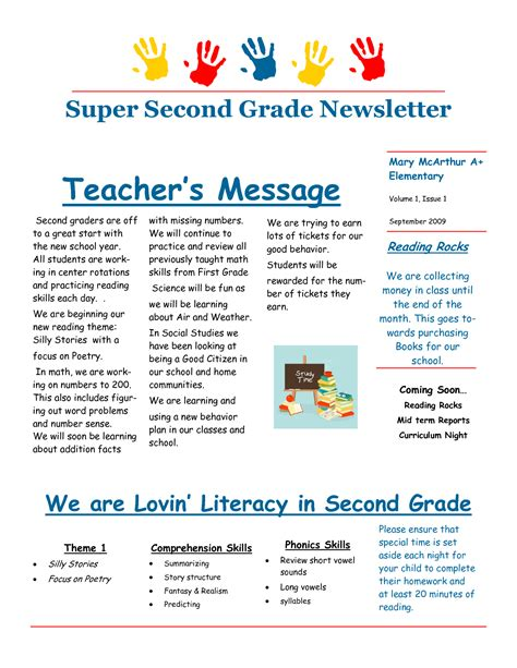 Third Grade Newsletter Template may be similar to last year digging the simplicity of