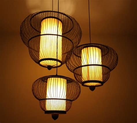 Asian Style Light Fixtures Bamboo Gourd Living Room Pendant Light Bamboo Pendant Light Bedroom L Modern Style
