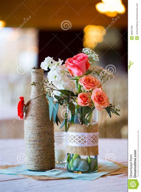 handmade wedding table centerpieces wedding reception table centerpieces stock image image 40027409