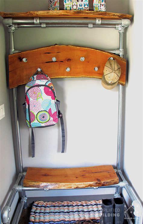 diy entryway bench  coat rack
