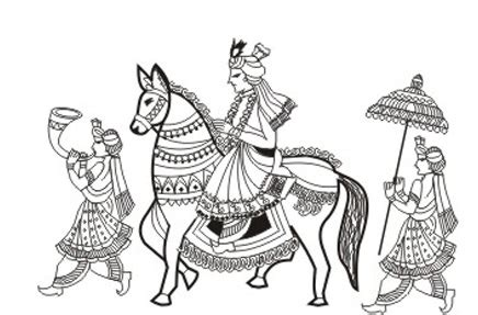 indian barat clipart indian clipart baraat pencil and in color indian clipart