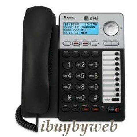 at t ml17929 2 line corded desk wall phone w speakerphone