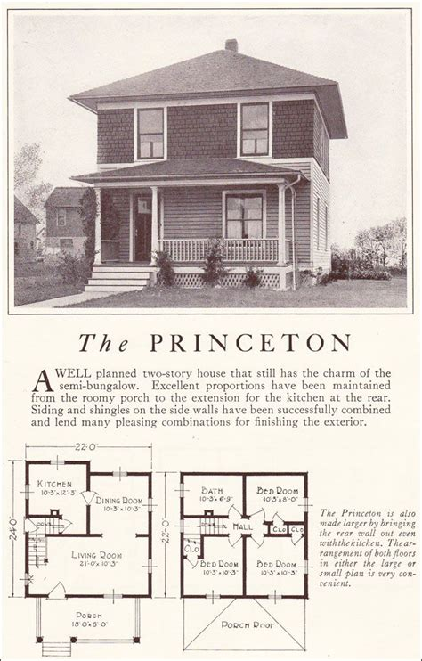 four square home plans 1922 lewis mfg princeton american foursquare