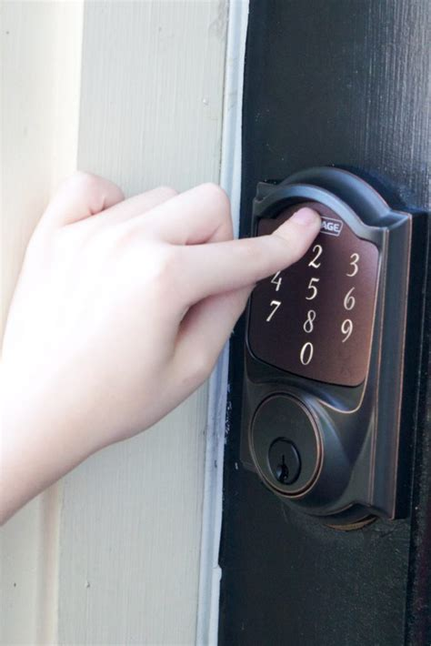 Our New Keyless Lock For The Front Door Erin Spain Keyless Entry Front Door