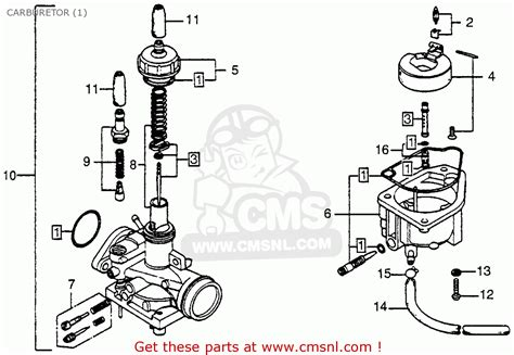 honda nc50 express 1978 usa carburetor 1 schematic