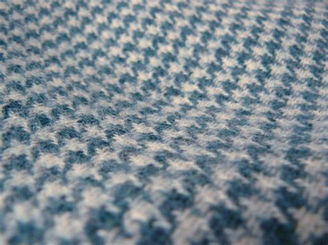 large houndstooth upholstery fabric vintage tweed wool fabric navy blue two tone houndstooth