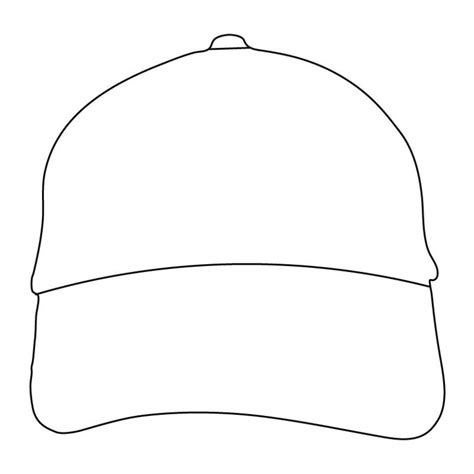 hat outline template best photos of baseball hat outline baseball cap outline