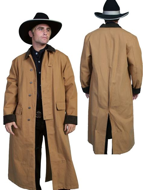 Brilante Mans Black Brown scully rangewear mens brown 100 cotton overcoat duster coat overcoat and dusters