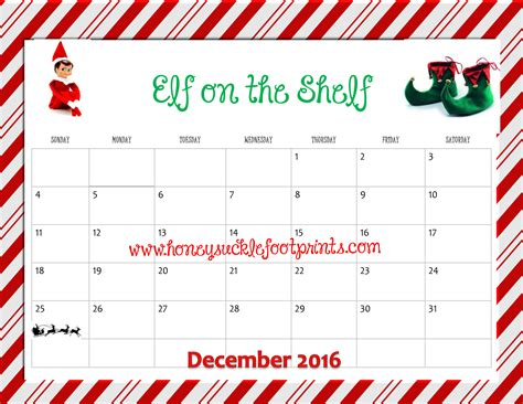 free printable elf on the shelf calendar free printable elf on the shelf planning calendar idea