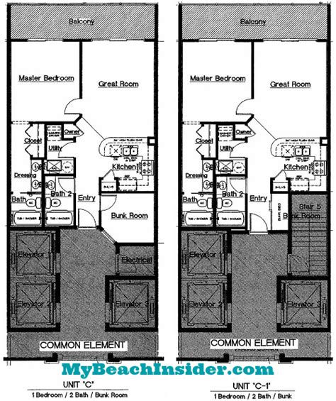 bunk room floor plans celadon beach resort condo floor plans panama city beach