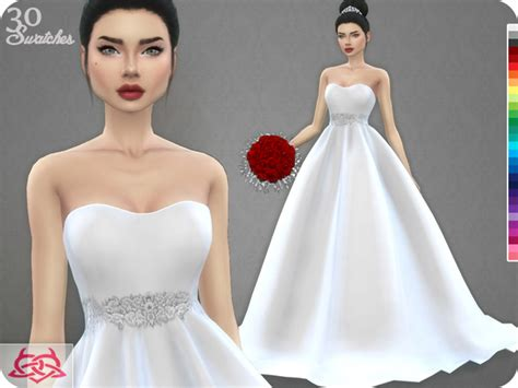 Wedding Dress The Sims 4 by Wedding 187 Sims 4 Updates 187 Best Ts4 Cc Downloads