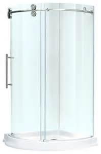 vigo 36x36 frameless 5 16 quot steel shower enclosure