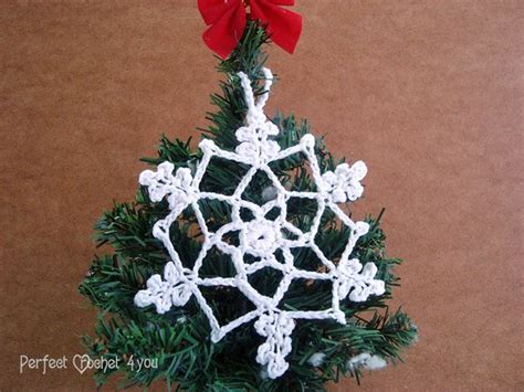 christmas tree snowflake patterns easy crochet snowflake pattern crochet hanging tree ornament vintage pattern home