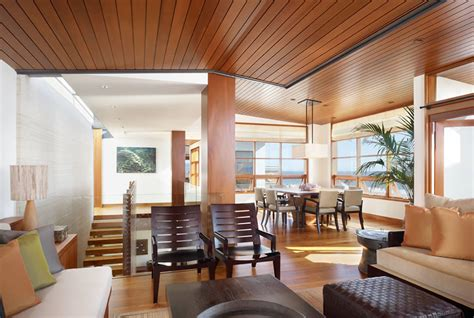 Wood Interior Homes Modern Outlook Of Tropical House Interior Wood Architecture Plushemisphere