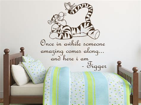 ebay wall stickers nursery wall decals nursery winnie the pooh quote once in awhile large sticker kid ns814 ebay
