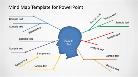 powerpoint map templates simple mind map template for powerpoint slidemodel